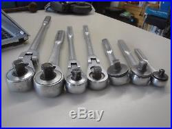 Lot of 7 Vintage Craftsman Ratchets USA Flex Head Quick Release Fine Tooth 1b
