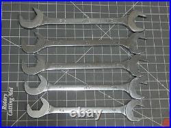 Mac 5Pc Large 4 Way Angle Wrench Set 1 1/4 5/16 3/8 1 7/16 1 1/2 DA44 DA46 DA48