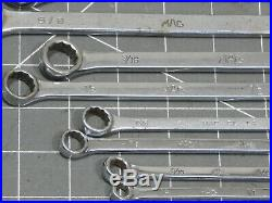 Mac Tools 14Pc SAE Long Combination Wrench Set 1/4 1 1/16 12Pt CL CL32 CL34