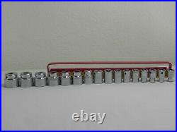 Mac Tools 16 Piece 3/8'' Drive 6 Point Metric Shallow Socket Set withHolder