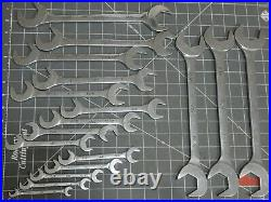Mac Tools 18Pc SAE 4 Way Angle Head Open End Wrench Set 3/8 1 1/2 Four Chrome