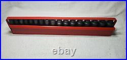 Mac Tools 3/8 Dr 17 Pc 6 Pt Deep Impact Metric Socket Set In Tray 8 24 MM