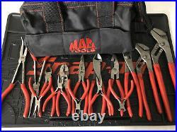Mac Tools Comprehensive 15pc Plier Set inc. Tool bag