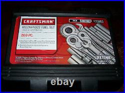 Made In USA Craftsman Socket Set 9-33200 Mechanics Travel Tools 1/4 3/8 1/2 Nice