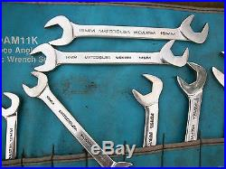Matco 10MM-19mm 4-Way Angle Head Wrench Set With Roll Up SWOAM11K Bonney Made