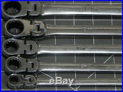 Matco Metric XL Extra Long Double Box Flex Head Spline Wrench 5Pc Set 8MM 19MM