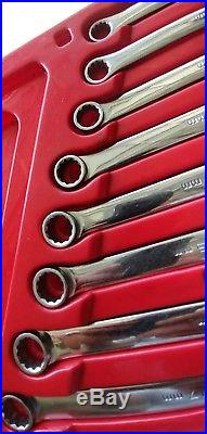 Matco Tools 10 Piece 0° Offset Ratching Box End 12 Pt Long Handle Wrench Set