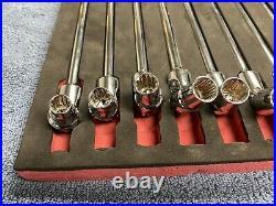 Matco Tools 8mm to 19mm Flex Extended 17 Long Metric Socket Set AGBLSP