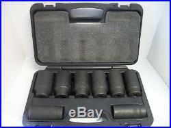 Matco Tools AXL4548A 1/2 Dr 6pt Metric 8 Piece Axle Nut Deep Socket Set 29-39mm