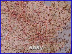 Michelin Tin/Metal Advertising Map From Michelin Map 986 Rusty As Photo