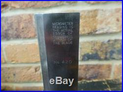 Moore & Wright Precision Tool Adjustable Square with Micrometer Unit