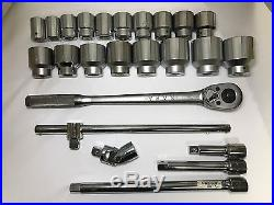 Napa 24 pc 3/4 in Dr. Socket Wrench + Breaker Bar with Sockets and accessories