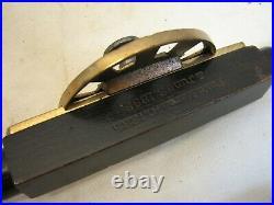 Nice Antique Wooden & Brass Windsor Beading Plane Hand Beader Wood Tool 1885 Pat