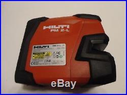 Nice Used Hilti Pm 2-l Line Laser Level Self-leveling In Bag