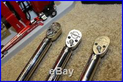 ONE Snap On 3/8 Dive Torque Wrench Ratchet QD2R200 40-200 IN-LB USA L@@K