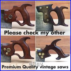 PREMIUM Quality SHARP! Antique GROVES & Son RIP SAW Old Vintage Hand Tool #208