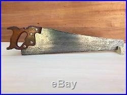 PREMIUM Quality SHARP! Vintage ATKINS No53 8PPI XCUT Panel SAW Hand Tool #283