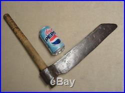 Primitive Hand Forged Wood Shingle Splitting Froe Tool Blacksmith Made & Signed