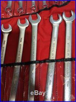 Proto J1200R-MASD 18 Piece ASD Combination Wrench Set 12 Point Metric 7-24mm