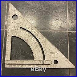 RARE 12 Stanley 46-052 Quick Roofing Square