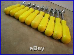 Rare! Mac Tools Bopa Metric Yellow Comfort Grip Box End Wrench Set 10mm To 19mm