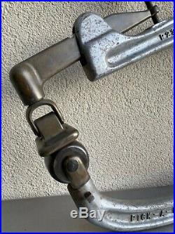 Rare Pick-A-Dent Tool Co. Fender Hand Iron Auto Body Planishing Hammer Roller