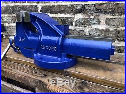 Record No. 35 Heavy Duty Quick Release Engineers Bench Vice Made In England