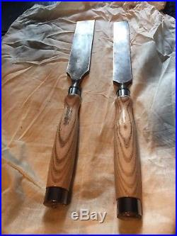 Robert Sorby 38mm(1-1/2) and 51mm(2) Heavy duty Timber framing chisels