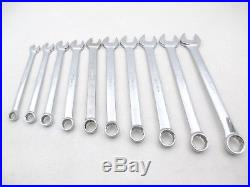 SNAP ON 10 Piece Metric Combination Wrench Set 10-19mm, 12 Point OEXM710