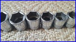 SNAP-ON 18 Pc 1/2 Drive SAE Short Chrome TW Series Socket Set (7/16- 1 1/2)