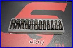 SNAP ON 1/2 METRIC IMPACT SWIVEL SOCKET SET 10 19 21,24mm 312IPLM LIST $810