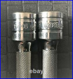 SNAP ON 208AFX 8-Piece 3/8 Drive Knurled Extension Set (1-1/2 thru 24) USA A