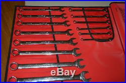SNAP ON 23pc Metric 12pt Combination Wrench Set, 8mm-32mm, OEXM723K