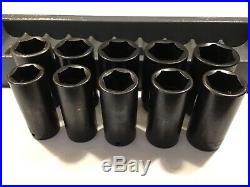 SNAP-ON 310SIMMADDON 10 Pc 1/2 Dr 6 Pt Impact Socket SetLARGE SOCKETS25-36 MM