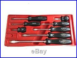 SNAP ON 8 Pc Screwdriver Set, Black Handle, Phillips & Flat, SDD Series