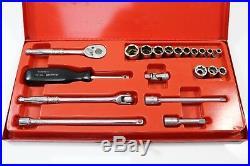 SNAP ON AF Imperial 1/4 drive socket ratchet set Vintage motorbikes car metal