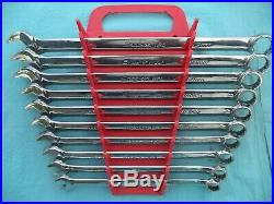 SNAP ON FLANK DRIVE PLUS WRENCH SET #SOEXM710 10mm-19mm 10 PC withRACK NICE