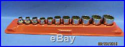SNAP-ON TOOLS 11 Piece 1/4-7/8 PAKTY240 3/8dr SAE 12PT SOCKETS & MAGNETIC TRAY