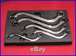 SNAP-ON TOOLS 5 PIECE 12-POINT S-SHAPED METRIC BOX SPANNER WRENCH SET 10-19mm