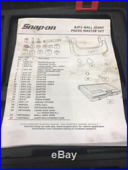 SNAP-ON TOOLS BJP1 Master Ball and U-Joint Set
