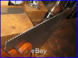 Simonds No. 61 22 12Pt. Fine Finish Crosscut Top Line Saw + Hand Sharpened