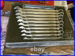 Snap On 10 Piece Flank Drive Plus SOEXM Spanner Set 10 19mm in tray