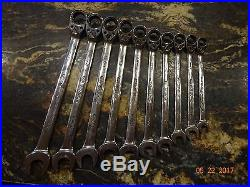 Snap-On 10 pc Metric Flank Drive Plus Reversible Ratcheting Combination Set