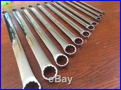 Snap On 11 Pc Double Box Wrench Set Long SAE