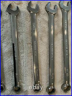 Snap On 12 Pc Combination Wrench Set, Sae, Never Used, Some Scratches