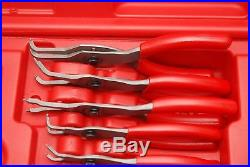 Snap-On 12 Pc Red Soft Handle Retaining Ring Pliers SRPC112 NEAR NEW SHIPS FREE