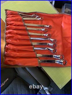 Snap-On 12 Piece 12 Pt SAE Flank Drive Standard 60° Deep Offset Box Wrench Set