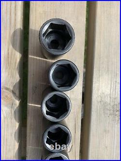 Snap On 12-pc 1/2 Drive Flank Drive Semi-Deep Impact Socket Set 312IMMS