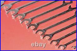 Snap-On 17 Piece 1/4 1 5/8 Four 4 Way Offset Angle Head Open End Wrench Set