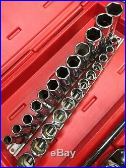 Snap On 206AFSP 3/8 General Service Set with 3/8 Shallow & Deep Metric Set